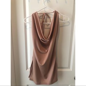 Fashion Nova Dresses - Fashion Nova Backless Sexy Mini Dress - Blush